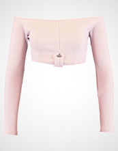 Missguided KNOT FRONT RIB CROP Topper langermet taupe