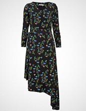 Finery London EBOR PRINTED WRAP Fotsid kjole black