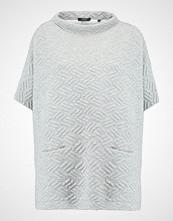 Opus Tshirts med print iron grey melange