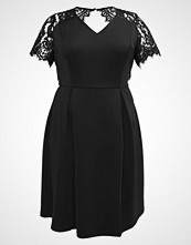 Dorothy Perkins Curve SLEEVE FIT & FLARE Sommerkjole black