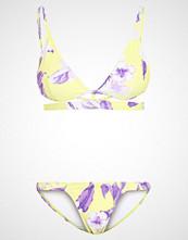 Missguided FLORAL PRINT UNDERBAND STRAP  Bikini lime