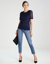 Dorothy Perkins PUFF SLEEVE LACE TEE Bluser navy blue