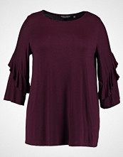 Dorothy Perkins Curve TWISTED RUFFLE FLUTE SLEEVE Topper langermet burgundy