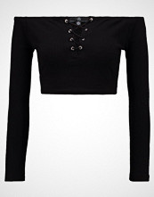 Missguided UP EYELET DETAIL Topper langermet black
