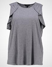 Dorothy Perkins Curve COLD SHOULDER RUFFLE Tshirts med print grey