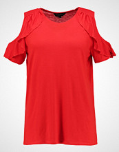 Dorothy Perkins Curve COLD SHOULDER RUFFLE Tshirts med print red