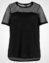New Look Curves FISHNET YOKE TEE Tshirts med print black