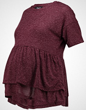 New Look Maternity C&S EMB SHOULDER TOP Tshirts med print dark burgundy