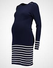 JoJo Maman Bébé STRIPE Strikket kjole navy/ecru