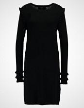 Vero Moda VMCOLUSA NECK RUFFLE Strikket kjole black