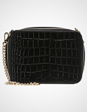 Whistles CAMILLE MINI CROC BOX Skulderveske black
