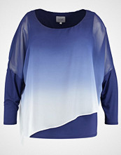 Live Unlimited London OMBRE CHIFFON OVERLAY TOP  Bluser dark blue