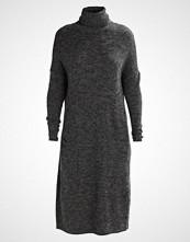 Noisy May NMCHUNKY ROLL NECK Strikket kjole dark grey melange