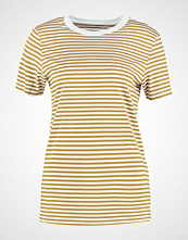Selected Femme SFMY PERFECT STRIPE Tshirts med print golden brown/bright white