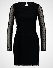 Miss Selfridge SPOT MESH RUCHED DRESS Kjole black