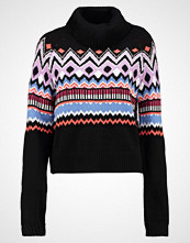Even&Odd FAIR ISLE CROPPED JUMPER Jumper black