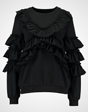 Even&Odd EXTREME RUFFLE SWEATER Genser black