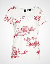 G-Star GStar X25 TOILE DE JOUY PRINT Tshirts med print milk/chili red ao