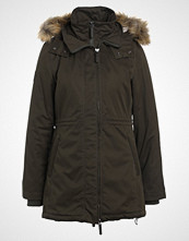 Superdry Parka deep olive/cream borg