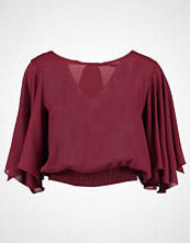 New Look EC SHIRRED Bluser dark burgundy