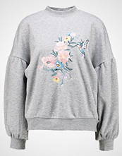 Even&Odd EMBROIDERED SWEATSHIRT Genser mottled grey