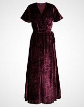 Polo Ralph Lauren BURNOUT VELVET Fotsid kjole maroon