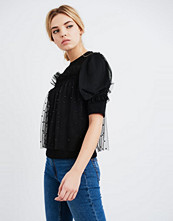Lost Ink OVERLAY PEARL Tshirts med print black