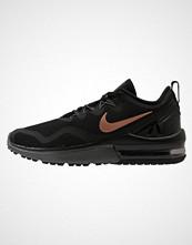 Nike Performance AIR MAX FURY Nøytrale løpesko black/metallic red bronze/dark grey