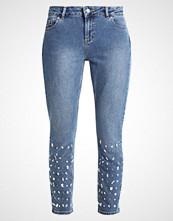 Dorothy Perkins MIDWASH EMBELLISHED Straight leg jeans blue