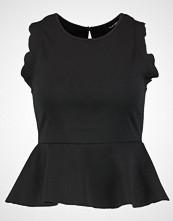 New Look SCALLOP PEPLUM Topper black