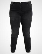 Junarose JRFIVE BIKER  Slim fit jeans dark grey denim
