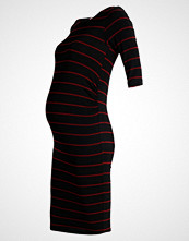 DP Maternity STRIPE  Kjole black/red blush