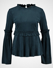 Lost Ink RUFFLE SLEEVE Topper langermet dark green