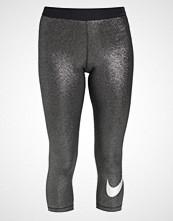 Nike Performance COOL 3/4 sports trousers black/metallic silver