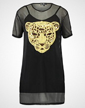 Missguided Petite EMBROIDERED TIGER WITH UNDERLAY Sommerkjole black