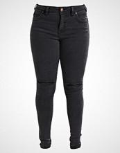 Zizzi AMY Slim fit jeans dark grey denim
