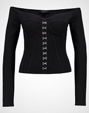 Lost Ink LONG SLEEVE BASQUE Topper langermet black