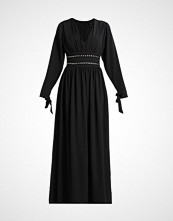 Lost Ink CONTRAST BELT TIE SLEEVE Fotsid kjole black