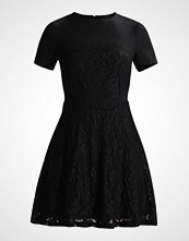 Lost Ink LACE SKIRT CHIFFON TOP FIT AND FLARE Cocktailkjole black