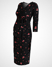 DP Maternity FLORAL RUCHED WRAP DRESS Sommerkjole black