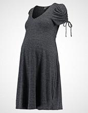 New Look Maternity MARL PUFF SLEEVE DRESS  Jerseykjole dark grey