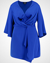 Missguided Plus TWIST FRONT LONG SLEEVE DRESS  Cocktailkjole cobalt blue