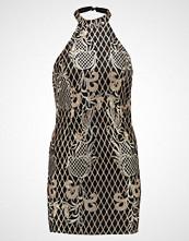 Missguided Petite HALTER NECK DRESS Cocktailkjole black/gold