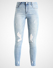 Missguided SINNER HIGH WAISTED STEPPED HEM SKINNY Jeans Skinny Fit blue