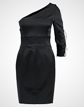 Karen Millen CROCODILE RUFFLE DRESS Cocktailkjole black
