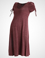 New Look Maternity MARL PUFF SLEEVE DRESS  Jerseykjole dark burgundy