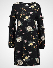 Dorothy Perkins FLORAL SWING DRESS Jerseykjole black