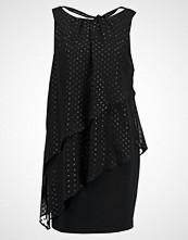 Wallis Petite METALLIC DOBBY TIERED DRESS Cocktailkjole black