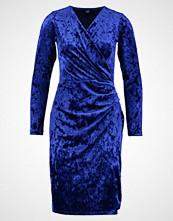 Wallis VELVET WRAP DRESS Hverdagskjole blue