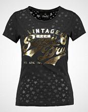 Superdry STACKER BURNOUT ENTRY TEE Tshirts med print black